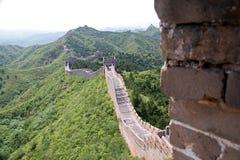 Великая Китайская Стена Китая - JinShanLing аккуратного Пекина, Китая Стоковое Изображение RF