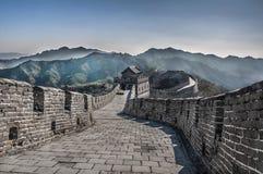 Великая Китайская Стена на Mutianyu Стоковые Изображения RF