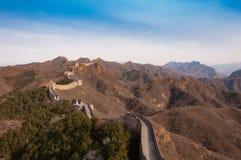 Великая Китайская Стена фарфора в jinshanling Стоковая Фотография