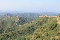 Великая Китайская Стена фарфора Стоковые Изображения
