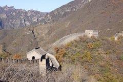 Великая Китайская Стена фарфора Mutianyu Стоковые Изображения RF