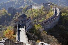 Великая Китайская Стена фарфора Mutianyu стоковое изображение rf