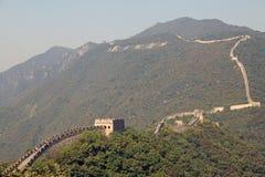 Великая Китайская Стена фарфора Mutianyu стоковые фотографии rf
