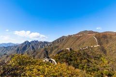 Великая Китайская Стена, часть Mutianyu Стоковое фото RF