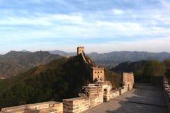 Великая Китайская Стена Jinshanling в Пекине Стоковое Фото
