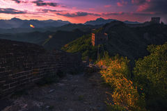 Великая Китайская Стена Jinshanling Стоковое Изображение RF