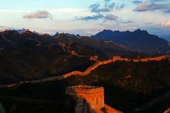 Великая Китайская Стена Jinshanling Стоковые Изображения