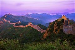 Великая Китайская Стена Jinshanling Стоковые Изображения RF