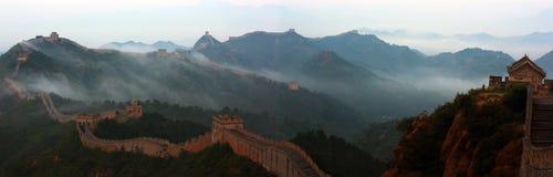 Великая Китайская Стена Jinshanling Стоковое фото RF