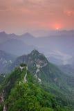 Великая Китайская Стена Mutianyu в Китае Стоковые Изображения RF