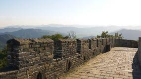 Великая Китайская Стена Mutianyu Стоковые Изображения RF