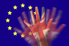 Великобритания из членства от Европейского союза Стоковые Изображения RF