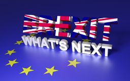Великобритания покидая EC иллюстрация вектора