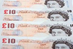 Великобритания 10 фунтов, предпосылка Стоковые Изображения