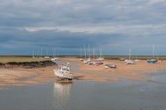 Великобритания - Wells затем море стоковые изображения