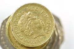 великобританская куча монеток Стоковое Изображение RF