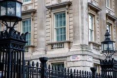 великобританская опуская домашняя улица главного министра london Стоковая Фотография