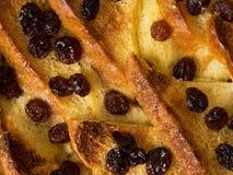 Великобританская предпосылка еды пудинга хлеба с маслом Стоковые Фотографии RF