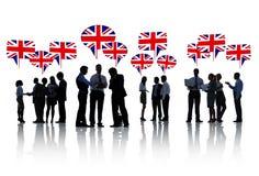 Великобританские бизнесмены говоря и обсуждая Стоковое Изображение