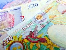 Великобританские бумажные деньги Sterling Великобритании Стоковые Фотографии RF