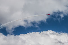 Великобританские военно-воздушные силы Великобритании 'красные стрелки' Стоковые Изображения RF