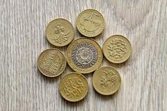великобританские монетки Стоковое Изображение RF