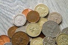 великобританские монетки Стоковые Изображения RF