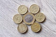 великобританские монетки Стоковое Фото