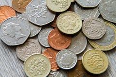великобританские монетки Стоковое Изображение