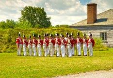 Великобританские солдаты в форте Джордж стоковые фотографии rf