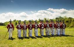 Великобританские солдаты в форте Джордж стоковые изображения