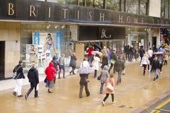 Великобританский магазин магазинов домов на принцах Улице, Эдинбурге Стоковая Фотография RF
