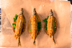 великобританское деревянное таблицы заедк рыб обломоков традиционное Стоковые Фотографии RF