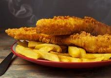 великобританское деревянное таблицы заедк рыб обломоков традиционное Стоковые Изображения