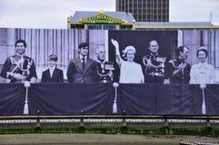 Великобританское изображение королевской семьи стоковое фото rf