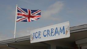 великобританское соединение jack флага сток-видео