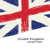 Великобританское grunge флага Стоковая Фотография