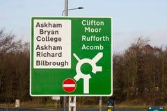 Великобританское roadsign Стоковое Фото