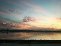 Великолепный заход солнца Стоковое Фото