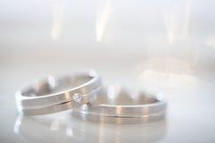 2 великолепных обручального кольца Стоковое Изображение RF