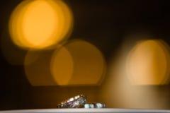 2 великолепных обручального кольца Стоковая Фотография