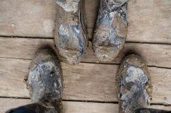 Веллингтон boots действительно тинное Стоковое Изображение RF