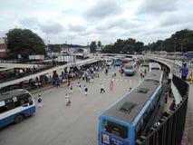 Величественная автобусная станция, Бангалор Стоковое фото RF