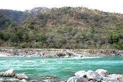 Величественное река Ganga стоковое изображение rf
