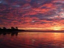 Величественный восход солнца захваченный на пляже Новой Англии Стоковое фото RF