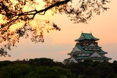 Величественный замок Осака - архитектура Японии историческая Стоковое фото RF