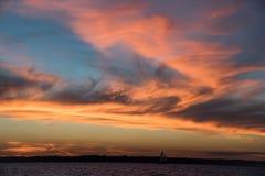 величественный заход солнца Стоковое Изображение