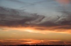 величественный заход солнца Стоковые Фотографии RF