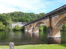 Величественный мост в tremolat, Франции Стоковое Фото