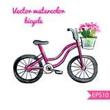 Велосипед акварели Иллюстрация штока